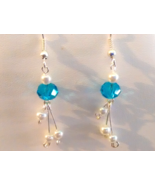 Beautiful Baby Blue Swarovski Crystal Earrings - $14.99