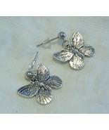 Pretty Silver Tone Butterfly Earrings On Stainl... - $8.99