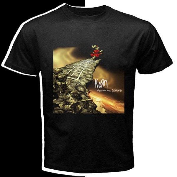 Korn band follow the leader album custom black t shirt s m for Xxl band t shirts