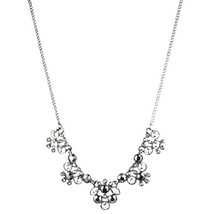 GIVENCHY CRYSTAL SILVERTONE FRONTAL NECKLACE NW... - $59.39