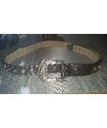 Black Italian Leather Rhinestone Western Bling ... - $24.99