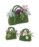 3 Flower Planter Baskets Sphagnum Moss - $22.00