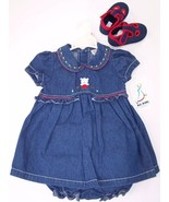 NWT b.t. kids Girl's 4 Pc. Embroidered Denim Pu... - $15.99