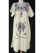 vtg 60s OAXACAN Mexican Hippie Wedding Dress Fl... - $59.99