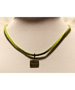 Stamped Word Necklace on Leather Cord - FAITH - $44.51