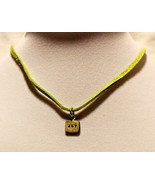 Stamped Word Necklace on Leather Cord - JOY - $44.51
