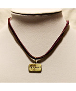 Stamped Word Necklace on Leather Cord - BALANCE - $44.51