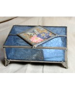 Beautiful Stained Glass and Pressed Wildflower Box - $59.99