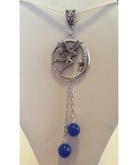 Beautiful Fairy Moon Necklace With Blue Lapis  - $19.99