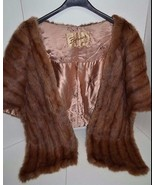 VNTG MINK STOLE FUR Luxury  Capelet Wrap Shawl ... - $197.99