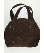 Vera Bradley Bowler Handbag Brown Espresso Bag ... - $39.59