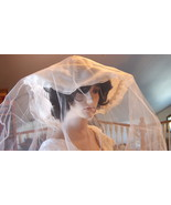 Bridal Wedding Vintage Hat with Veil, White Wid... - $96.00