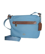 Coach F37239 Sawyer Crossbody Canvas Purse Bluejay - $135.00