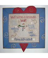 CLEARANCE A Snowman's Heart cross stitch chart ... - $3.00