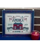 CLEARANCE America Is Our Home cross stitch char... - $3.00