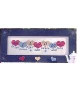 CLEARANCE Heart Welcome cross stitch chart Popp... - $3.00