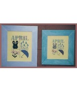 CLEARANCE April Squares OOP cross stitch chart ... - $3.00