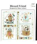 CLEARANCE Blessed Friend cross stitch chart Ima... - $2.50