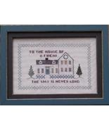 CLEARANCE House Of A Friend cross stitch chart ... - $3.00