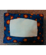 CLEARANCE Blue with Gold Star Red Tuck Pillow P... - $4.50