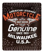 Harley Davidson Legends Fleece Blanket 50
