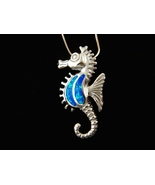 925 Sterling Silver Pendant Hawaiian Blue Opal ... - $27.00