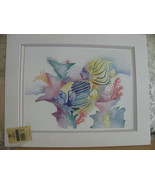 1991 WATER COLOR PRINT LESLIE LANE SIGNEDTWO MA... - $5.50