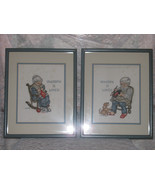 TWO OLD MATTED & FRAMED NETTLE POINT A GRANDMA ... - $30.00