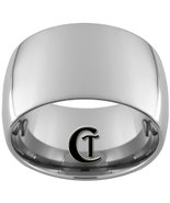 14mm Tungsten Carbide Band Dome Ring Sizes 8-12 - $59.00