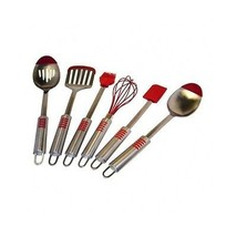 Utensil Set Stainless Steel Silicone Tip 6-Piec... - $54.99