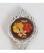 Collector Souvenir Spoon Fiji Nadi Hibiscus Flower - $17.99