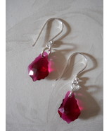 Earrings: Ruby Red Baroque Swarovski Crystals, ... - $23.00