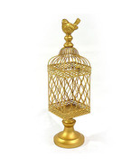 Vintage Style Gold Metal Bird Cage.5'' x 18.5''H. - $94.05