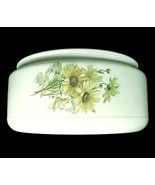 White Floral Glass Ceiling Light Shade Drum 7 3... - $14.95