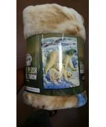 Polar Bear and Cubs Royal Plush Raschel Throw b... - $24.75