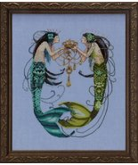 The Twin Mermaids MD141 cross stitch chart Mira... - $13.95