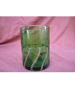 Beaded Swirl Tumbler Green and Gold George Dunc... - $19.99