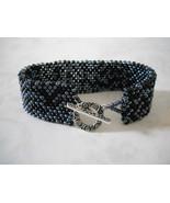 Matte Black & Shiny Gunmetal Farfalle Beads Bra... - $29.00