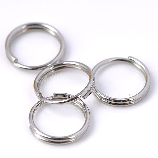300PC Stainless Steel Open Jump Rings Double Loop Split Findings Connectors 8mm