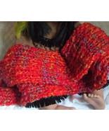Handknit Blossom Hat and Scarf Set Jellybean li... - $14.95