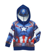 Captain America  Fleece Hoodie Sweatshirt  Hood... - $19.99