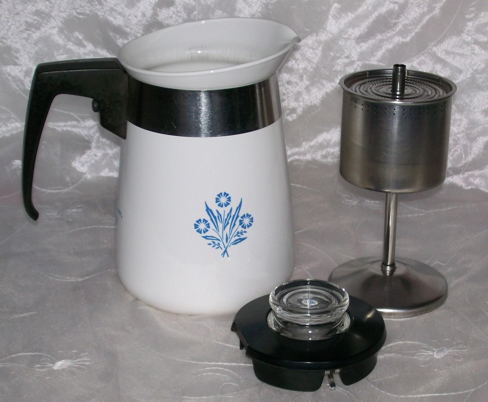 percolator stove corning cup coffee pot cornflower bonanza ware corelle
