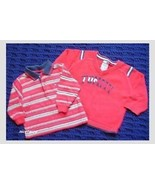 TOMMY HILFIGER Boy 2 Pc Lot LS Tee / Sweater 6 ... - $15.84