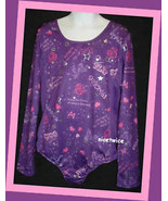 DANSKIN Girl Purple Long Sleeve Gymnastics Leot... - $14.85