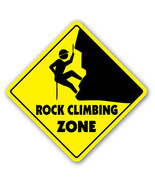 ROCK CLIMBING ZONE Sign xing gift novelty clips... - $8.90