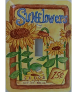 Sunflower Steel Single Toggle Lightswitch Wallp... - $10.99