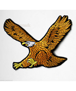 EXTRA LARGE AMERICAN GOLD EAGLE QUALITY EMBROID... - $14.06