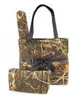 Soft Camo Diaper Bag Tote Purse 3 Piece Set Cha... - $42.13