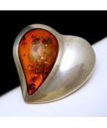 Vintage Hallmarked Sterling Silver Heart Brooch... - $44.54