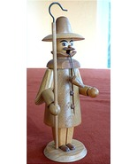 Wood Carved Night Watchman Ore Mountains Famous... - $29.95